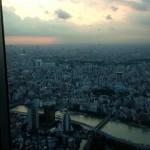 東京スカイツリーの夕焼け